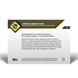 American striker shocks Manchester United in final minute - UCL TOPPS NOW® UK Card #16