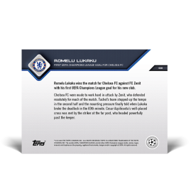 First UEFA Champions League Goal for Chelsea FC - UCL TOPPS NOW® UK Card #20