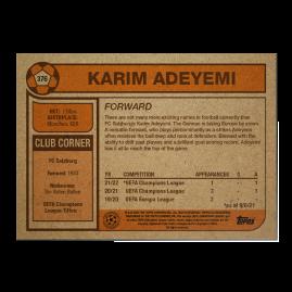 Topps FR - UCL Living Set Card #376  - Karim Adeyemi