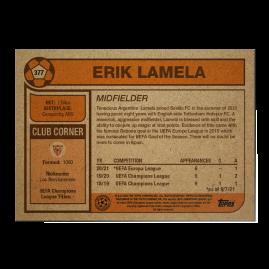 Topps FR - UCL Living Set Card #377 - Erik Lamela