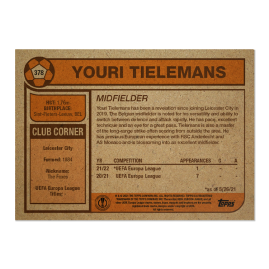 Topps UK - UCL Living Set Card #378 -  Youri Tielemans