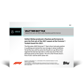 Takes first win of 2021 with flawless performance - F1 TOPPS NOW® DE Card #61