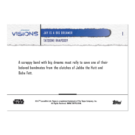 2021 Star Wars Visions TOPPS NOW® - DE - 5-Card Pack - Tatooine Rhapsody