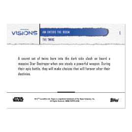 2021 Star Wars Visions TOPPS NOW® - DE -5-Card Pack - The Twins