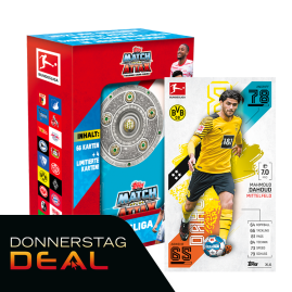 Bundesliga Match Attax 2021/2022 - Mega-Sammeldose mit Dahoud XL Karte!