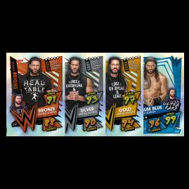 WWE Slam Attax 2021 - Mini Sammeldose (Grün & Blau Dose)