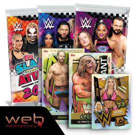 WWE Slam Attax 2021 - Packet Bundle with Mandy Rose LE, Ultimate Warrior & Cesaro XL cards!