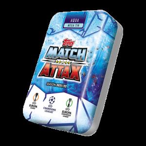 Match Attax season 2021-2022 Collector Tin Mega - Aqua マッチアタック シーズン2021-2022 コレクターティンケース メガ (アクアカラー)