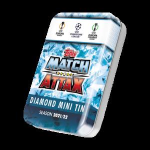 Match Attax season 2021-2022 Collector Tin - Diamond マッチアタック シーズン2021-2022 コレクターティンケース (ダイアモンドカラー)