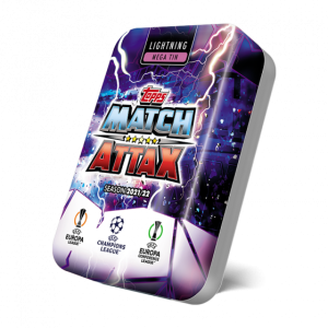 Match Attax season 2021-2022 Collector Tin Mega - Lightning  マッチアタック シーズン2021-2022 コレクターティンケース メガ (ライトニングカラー)