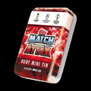Match Attax season 2021-2022 Collector Tin - Ruby  マッチアタック シーズン2021-2022 コレクターティンケース (ルビーカラー)