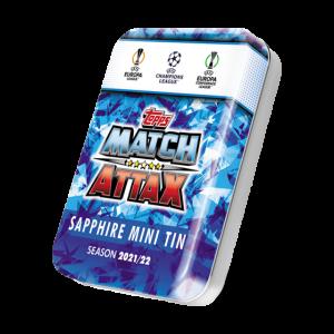 Match Attax season 2021-2022 Collector Tin - Sapphire  マッチアタック シーズン2021-2022 コレクターティンケース (サファイアカラー)