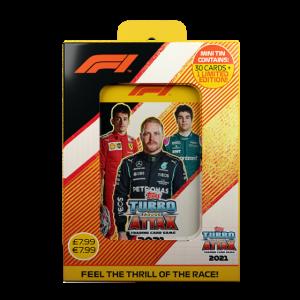ターボアッタク シーズン2021-2022 コレクターティンケース 1 - ボッタス ルクレール ストロール F1カード F1 Turbo Attax season 2021-2022 Mini Tin Box 1 - Bottas Leclerc Stroll